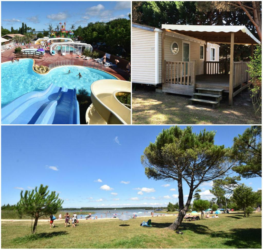 kamperen campings tussen zee en meren Les Landes Lac Sanguinet