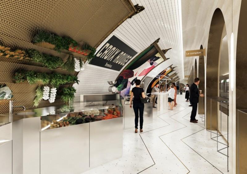 restaurant in de metro van Parijs