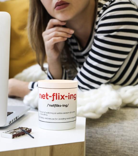 Netflixing kaars Valentijnsdag