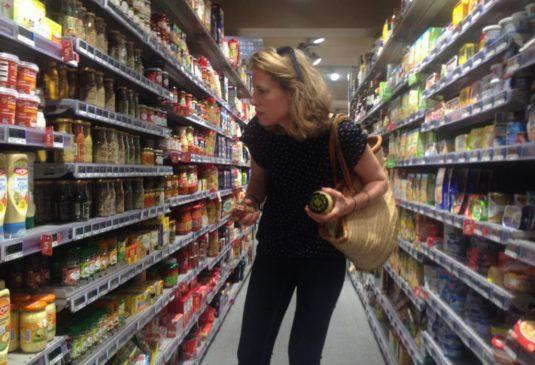 Nicky in de supermarkt