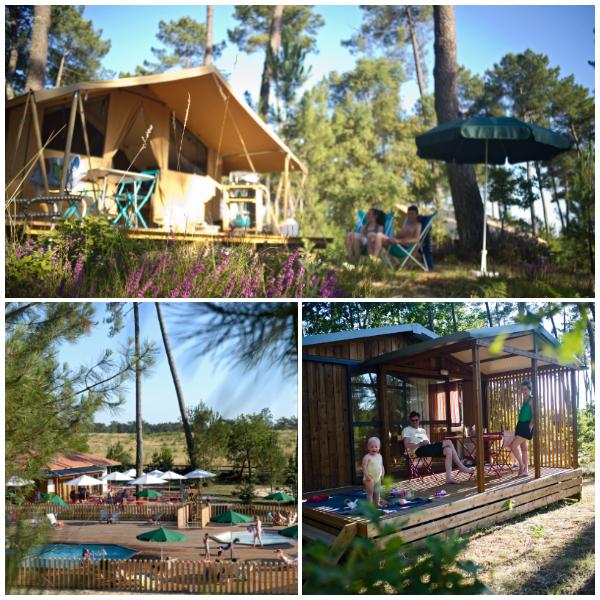 camping in het bos van Les Landes Huttopia