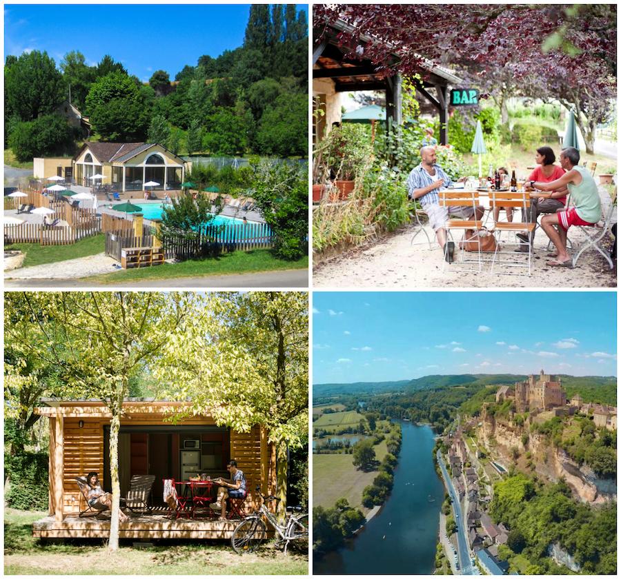 camping in de Dordogne Huttopia groen