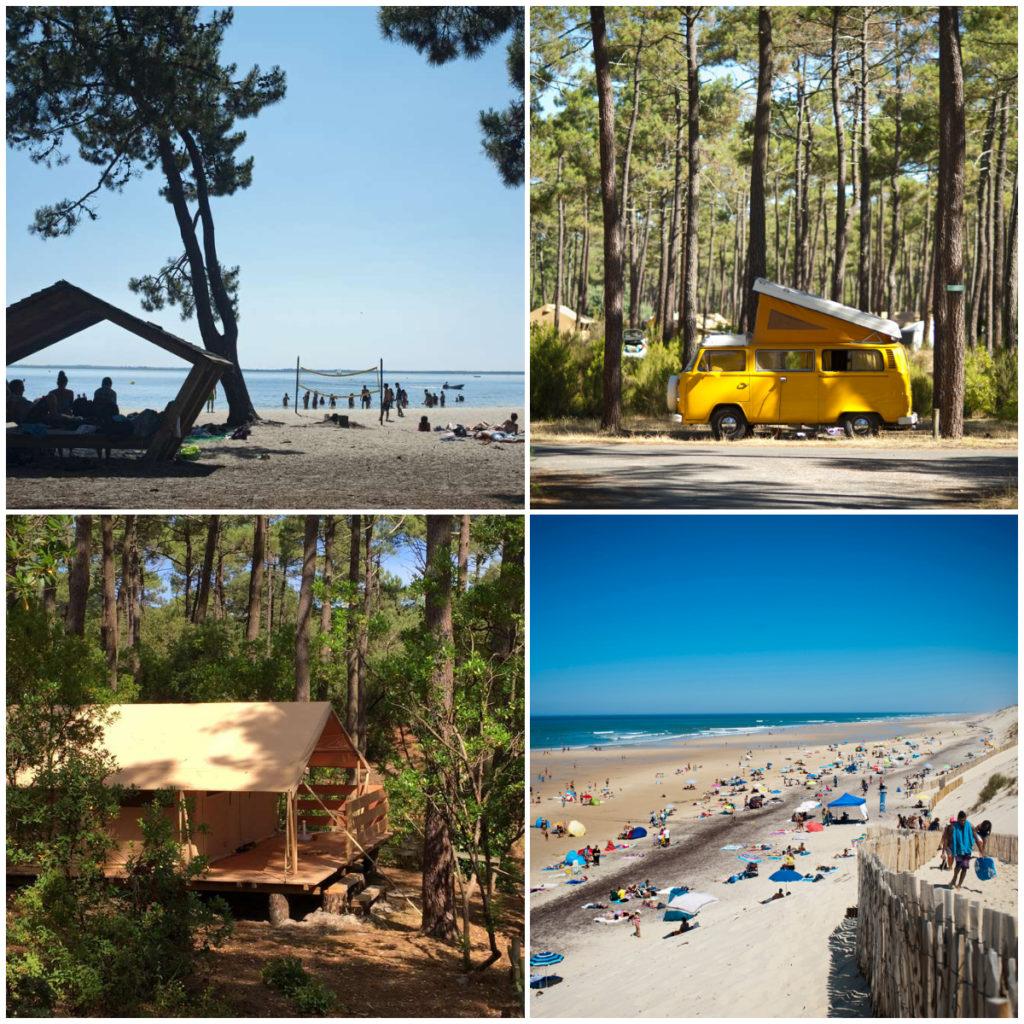camping in Les Landes tussen oceaan en een meer