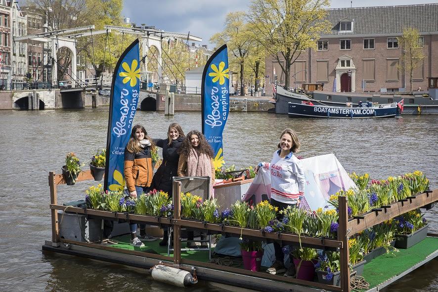 Flowercamping grachten Amsterdam