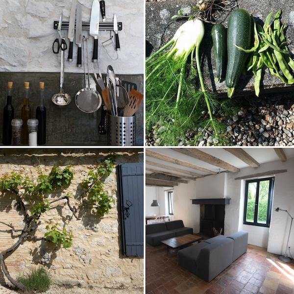hippe vakantiehuizen Dordogne keuken