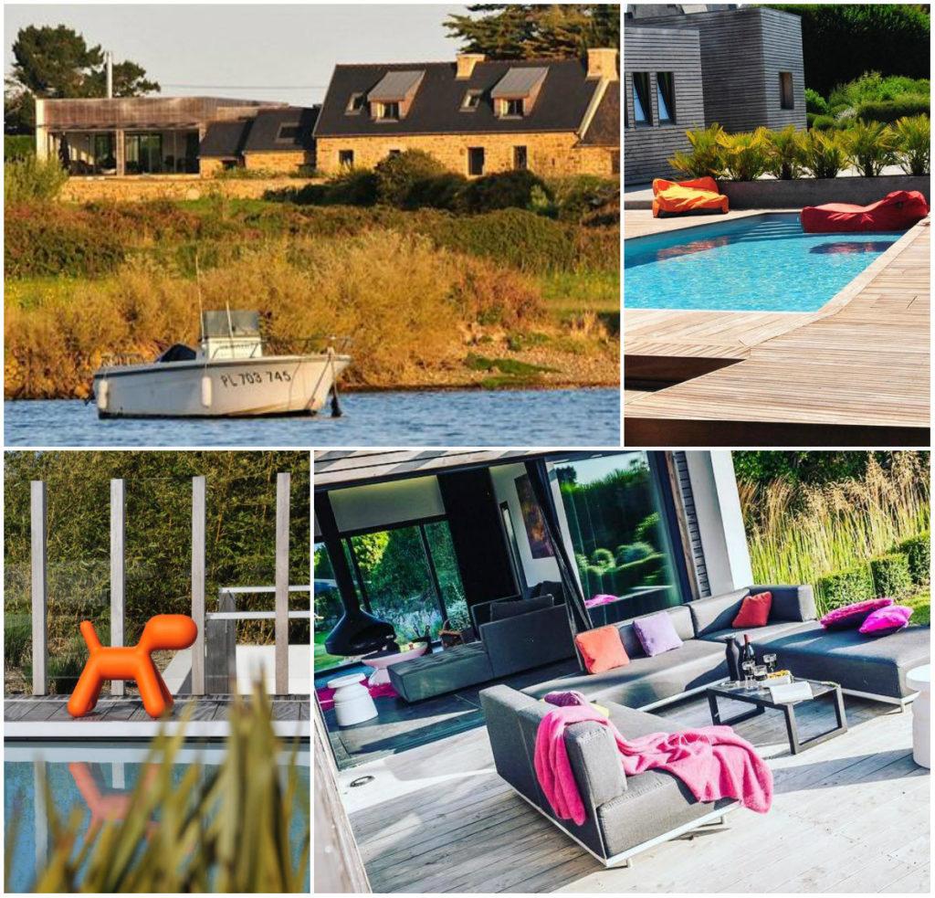 luxe vakantiehuis Bretagne spa en zwembad