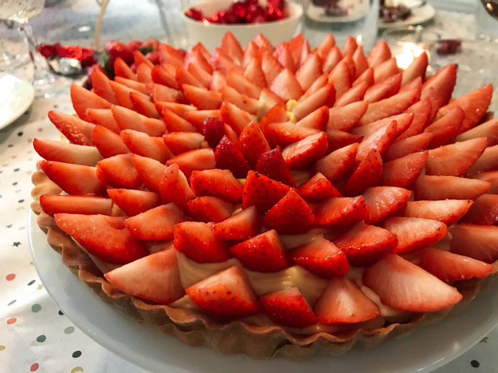 Tarte aux fraises aardbeien