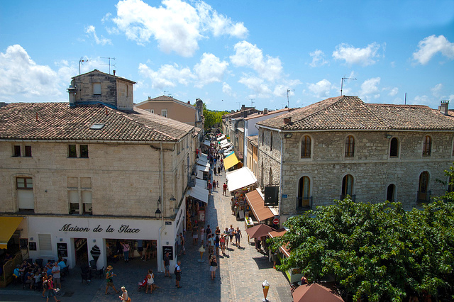 Aigues-Mortes middeleeuws stadje Patite Camargue
