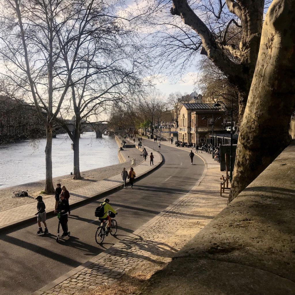 met de fiets naar Parijs Seine
