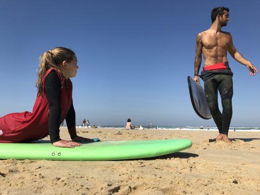 leren surfen Franse westkust