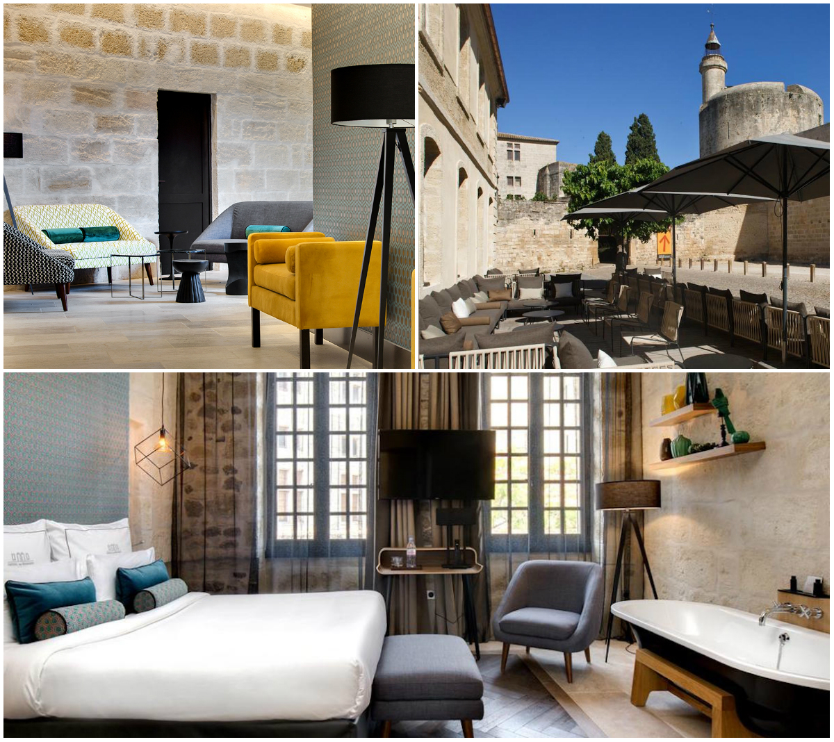 hotel in Aigues-Mortes slaapkamer
