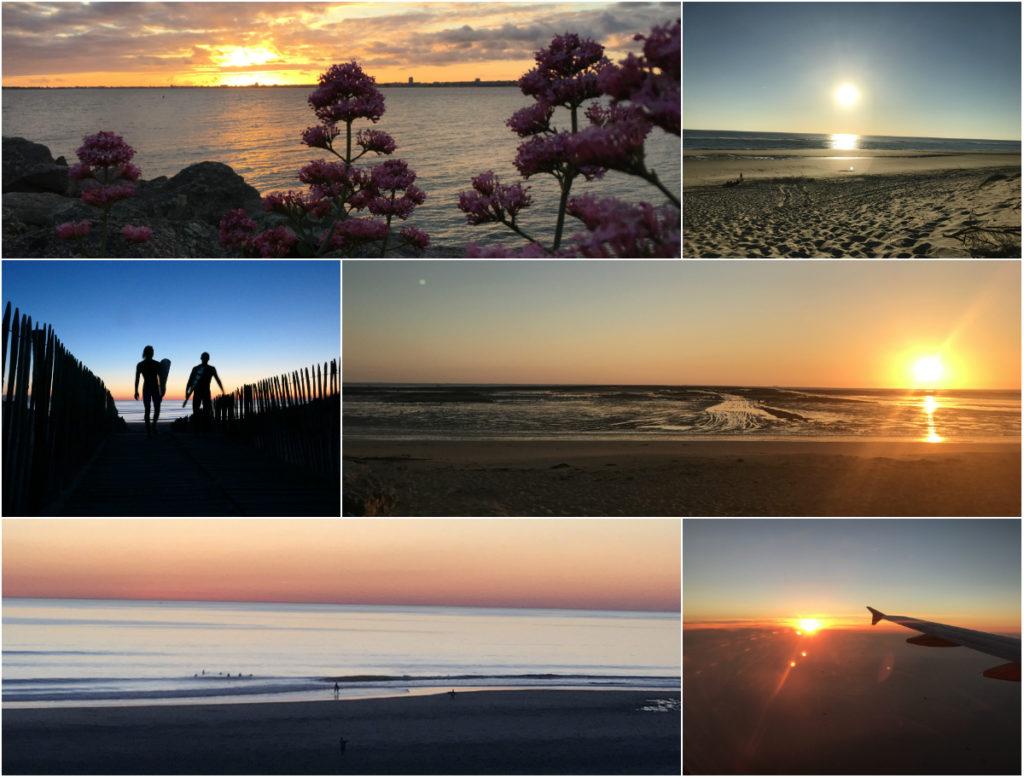 zonsondergangen Atlantische kust