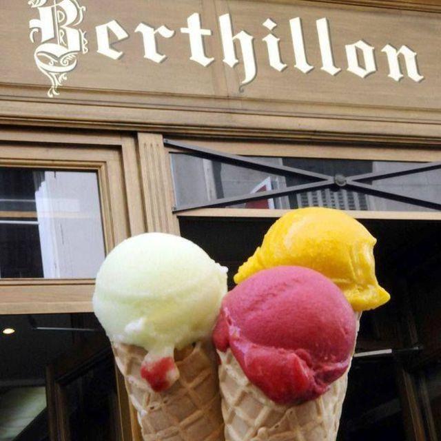 Berthillon ijs eten in Parijs