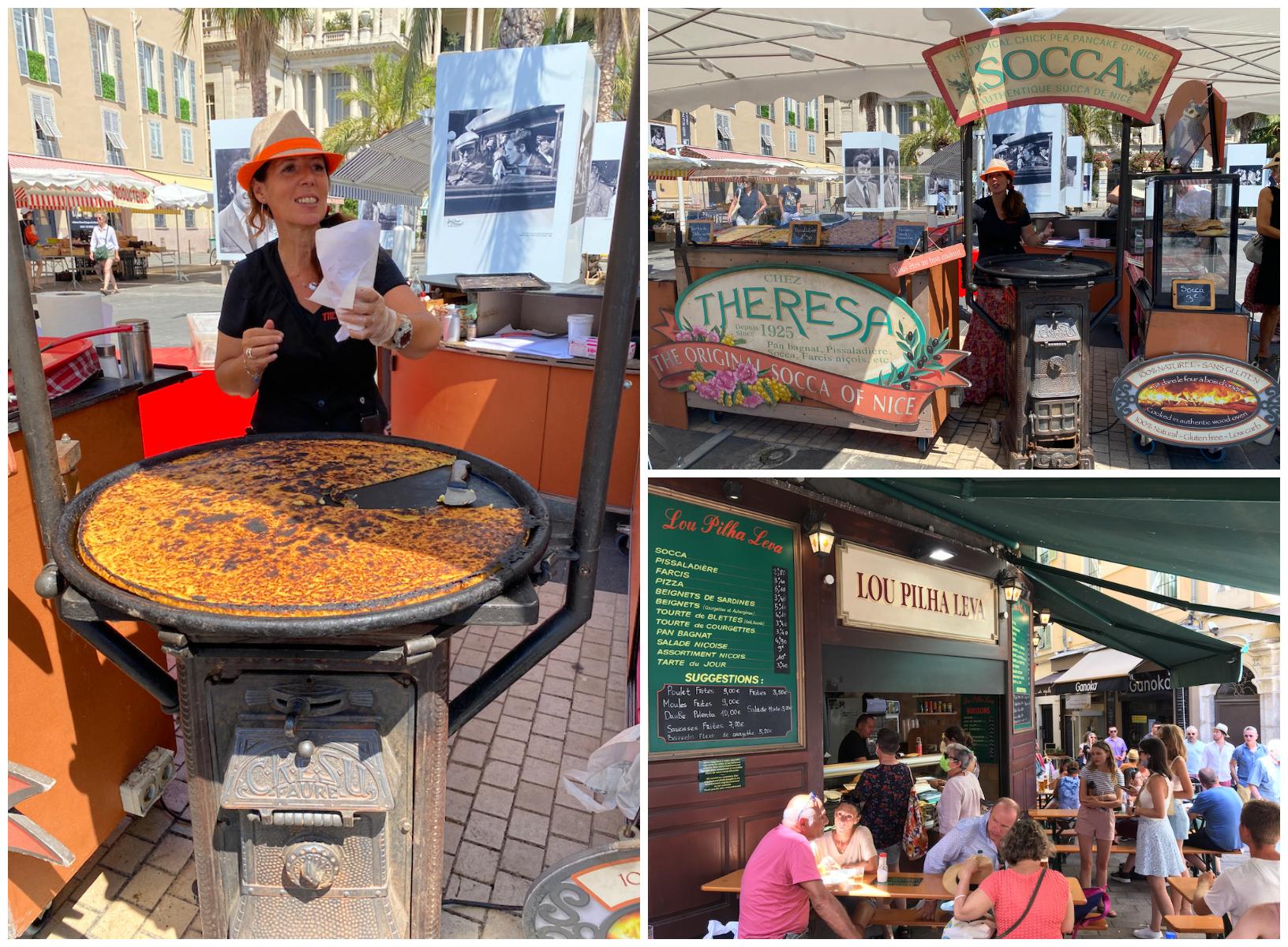 Socca eten in Nice