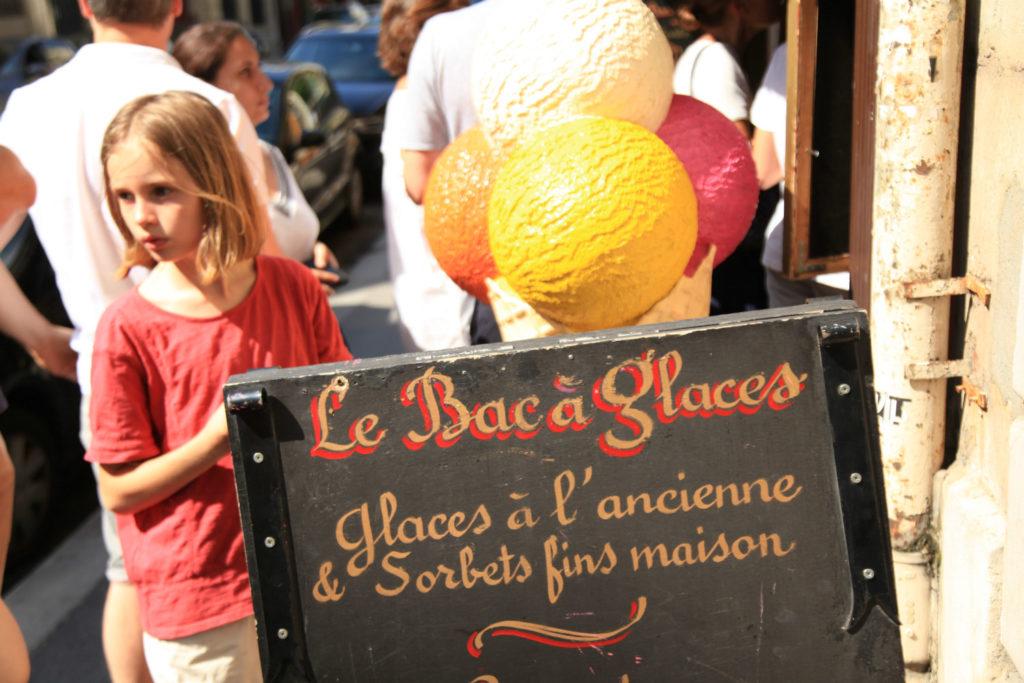 Le Bac à Glaces ijs eten Parijs