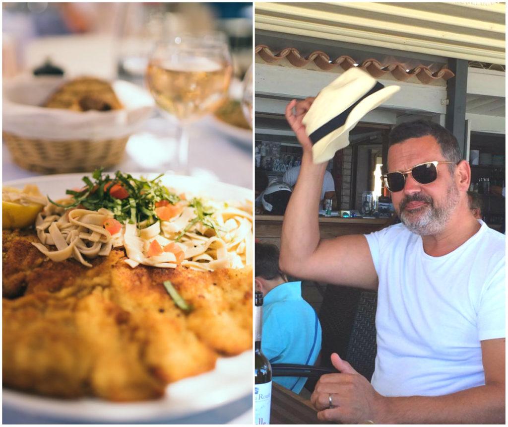 lunchen op het strand Saint-Tropez
