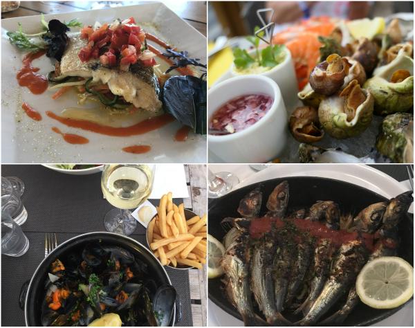 verse vis en mosselen eten Atlantische kust