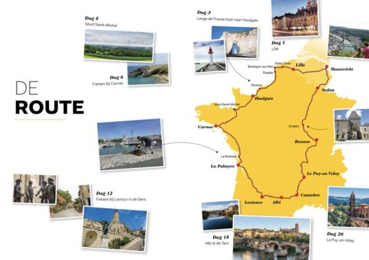 Route Frankrijk Binnendoor