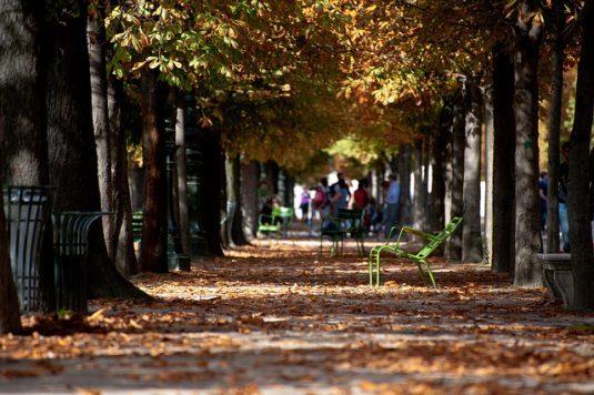 herfst Parijs parken