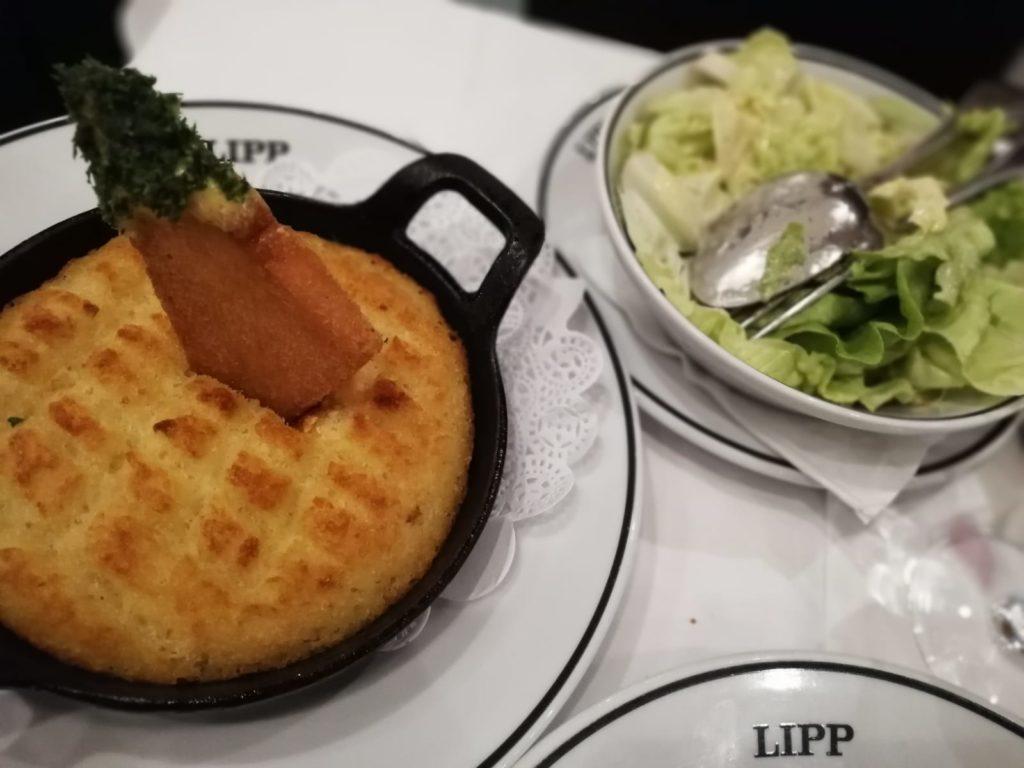 brandade met salade Brasserie Lipp Parijs