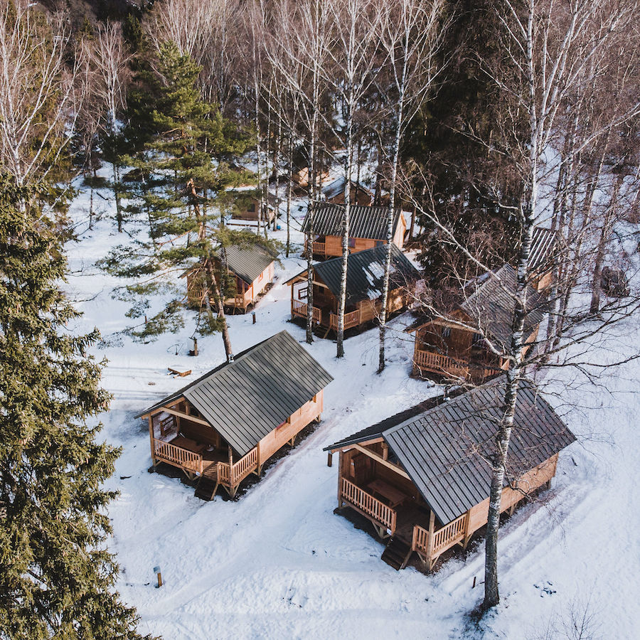 Huttopia wintercampings Franse Alpen