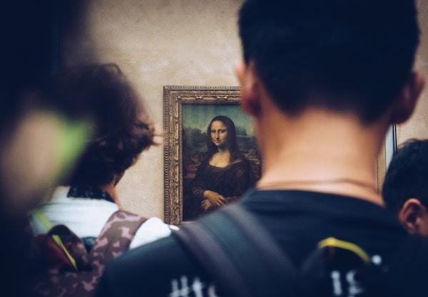 Louvre Mona Lisa drukte