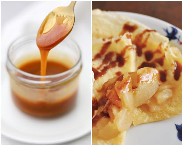 zoute karamelsaus beleg voor Franse crêpes