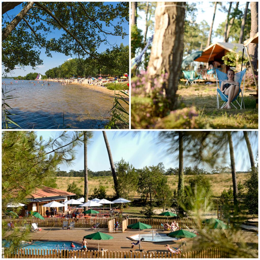 Camping Les Landes bij een meer