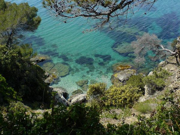 Domaine du Rayol uitzicht op zee