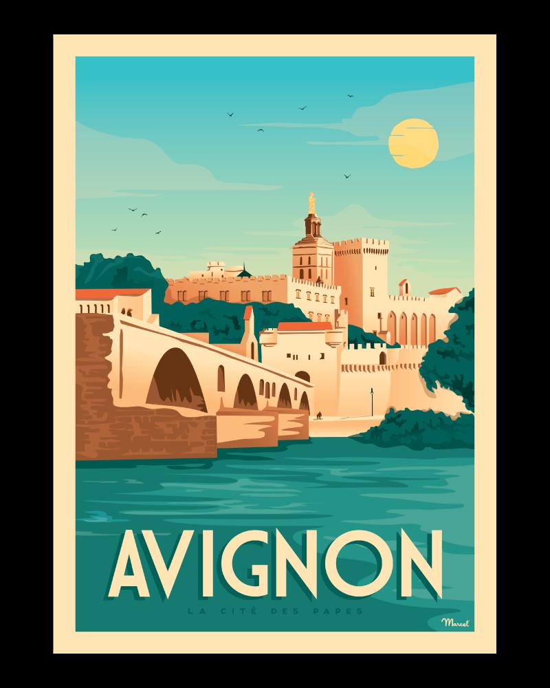 nogstalgische affiches Franse bestemmingen