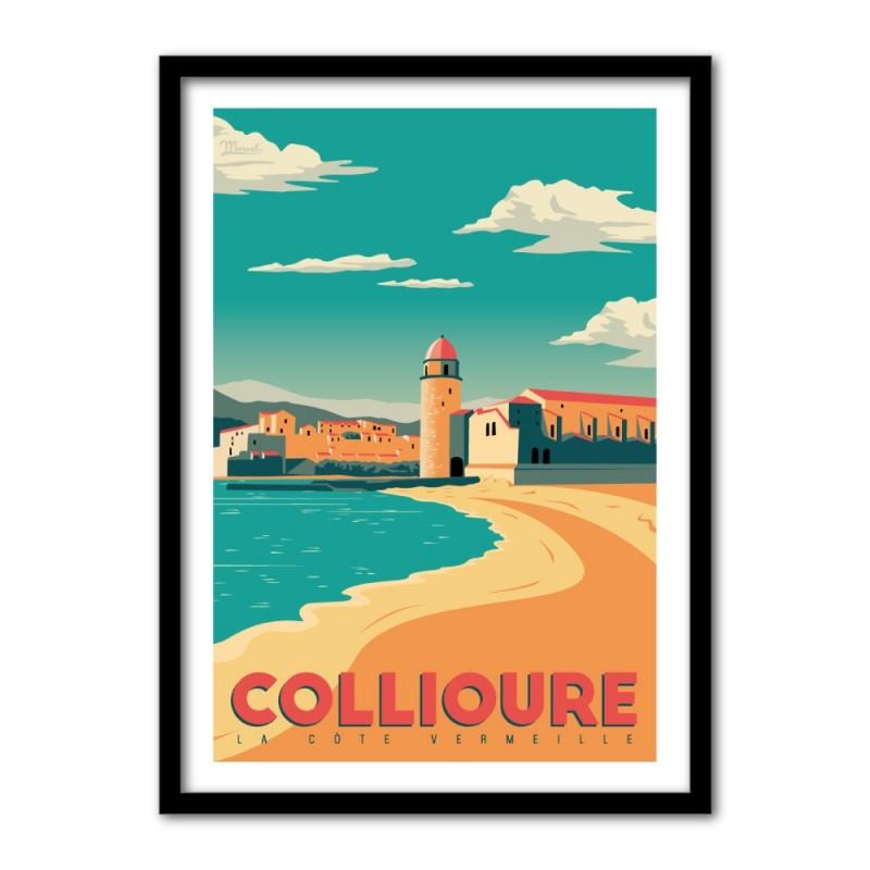 Collioure nogstalgische affiches Franse bestemmingen