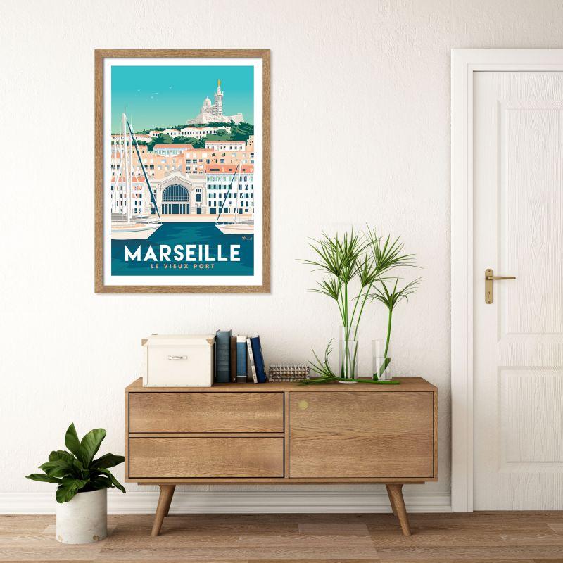 Marseille nogstalgische affiches Franse bestemmingen