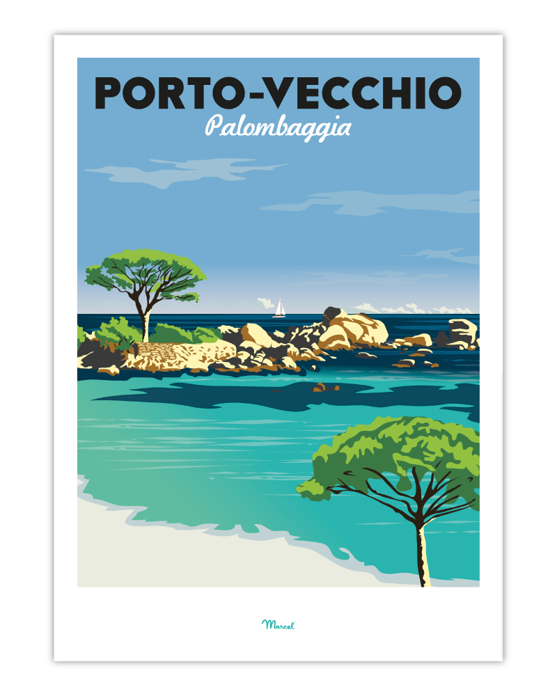 Porto-Vecchio nogstalgische affiches Franse bestemmingen