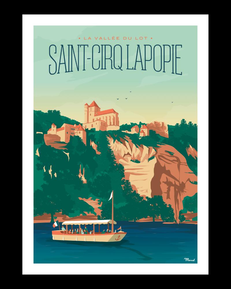 Saint-Cirque-Lapopie nogstalgische affiches Franse bestemmingen