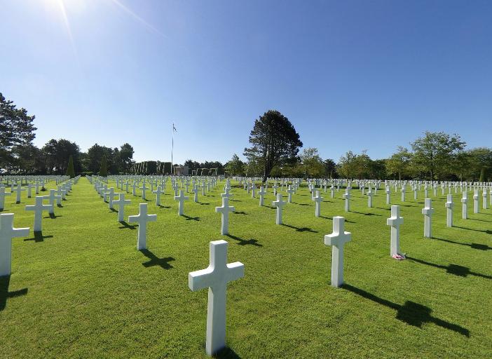 Amerikaanse begraafplaatse 360 graden