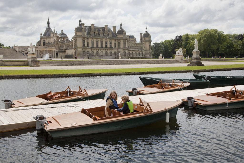 Chantilly bootje varen in de Franse tuinen van Le Notre