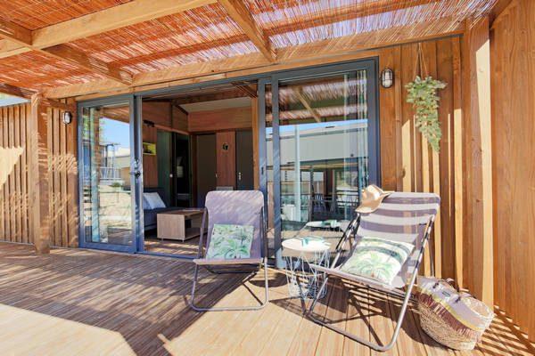 chalet bungalow camping Normandië