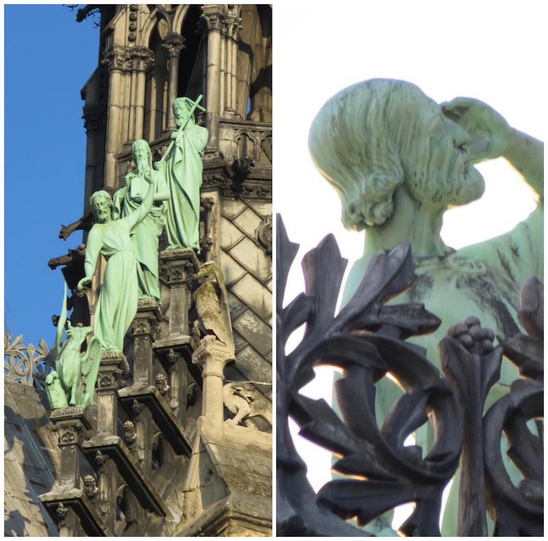 apostelene boven op de kathedraal
