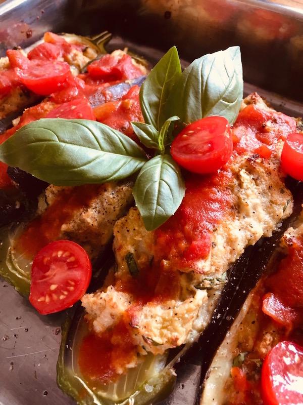 recept aubergines uit de oven Euid-Frankrijk