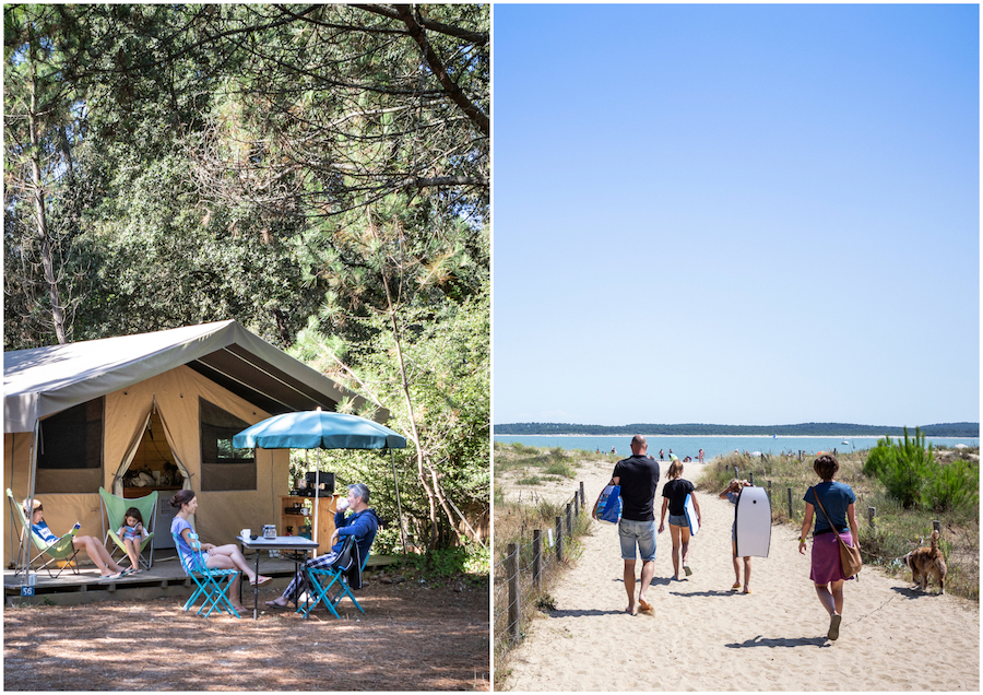 glamping camping op een Frans eiland Ile d'Oleron