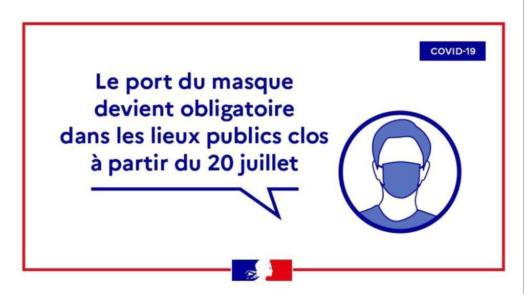 mondmaskers verplicht in Frankrijk