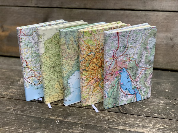 notitieboekjes Franse wegenkaarten Signed