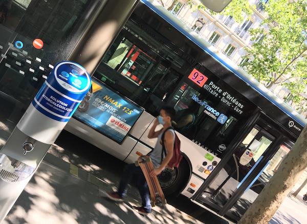 bushaltes Parijs pomp met handgel