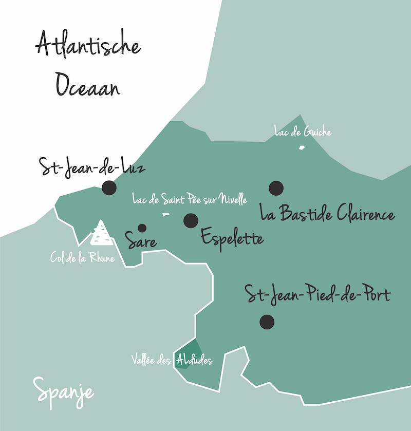 Kaart frans baskenland