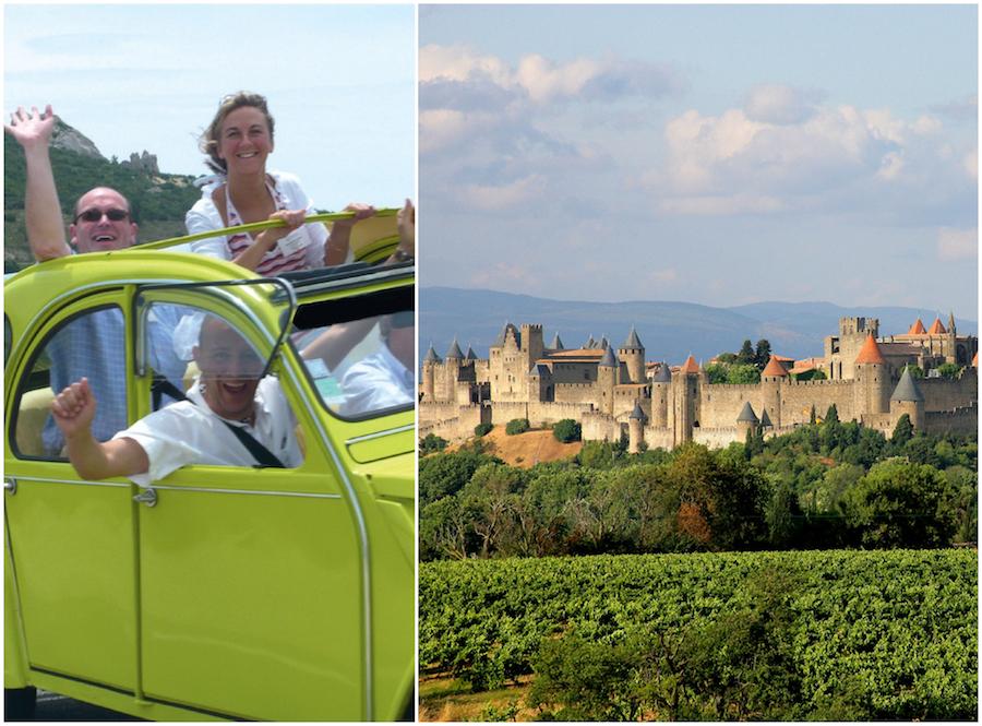 Carcasonne tochten wijngaarden