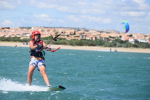 kitesurfen voor kinderen Aude Saint-Pierre-la-Mer