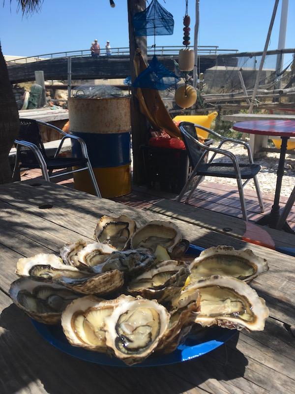 oesters eten Leucate