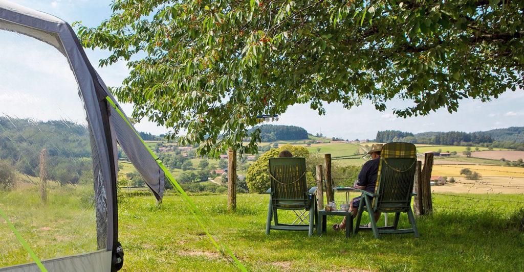 camping met uitzicht bij Cluny en Macon zuiden van de Bourgogne