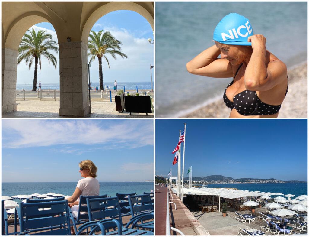 Nice strand zwemmen Promenade des Anglais