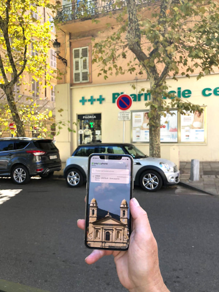 handige parkeerapp PaybyPhone Corsica